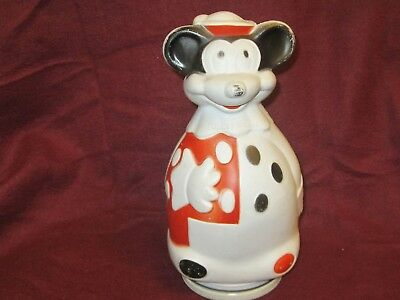 Vintage 1966 Nabisco Advertising / Walt Disney Mickey Mouse Plastic Savings Bank