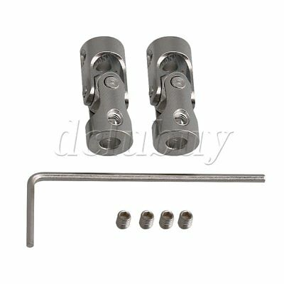 2x OD 9MM ID 3-4MM 45# Steel Rotatable Universal Joint Connector Coupler