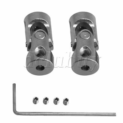 2xOD 8MM ID 2 to 2.3MM Steel Rotatable Universal Joint Connector Coupler