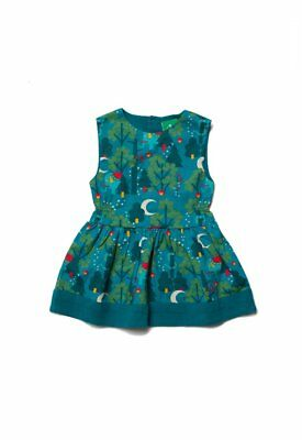 Little Green Radicals Organic Midnight Jungle Gathered Dress 4 5 6 7 8 LGR