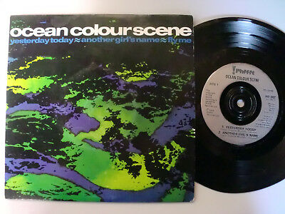 """7"""" Single Ocean Colour Scene Yesterday today , Another girl s name , Fly me"""
