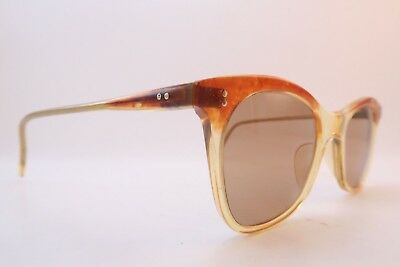 Vintage 50s sunglasses brown tinted glass ZEISS lenses made in Germany SUPERB