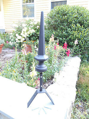 "12"" Black Finial with roof mount and all hardware included"