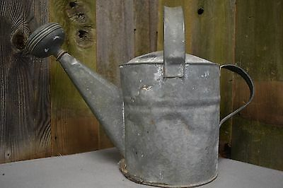 "Antique Galvanized Watering Can with Two Handles 12"" x 17"""
