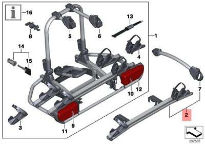 Genuine BMW Tow Hitch Bike/Bicycle Holder Expansion Kit 82722220053
