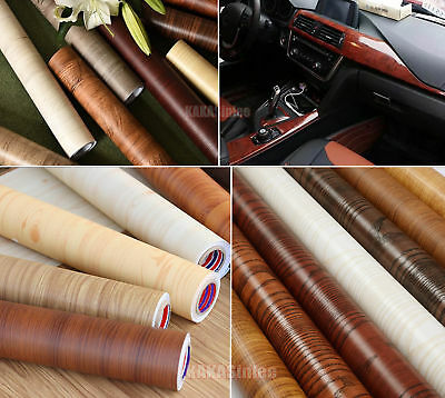 Decors Matte Glossy Wood Grain Textured Vinyl Wrap Sticker Car Home Change - AB