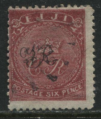 Fiji QV 1877 6d rose on laid paper mint o.g.