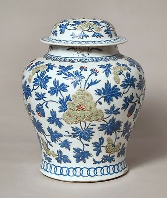 Very Rare Large Antique 18Thc Chinese Famille Rose Porcelain Peony Vase