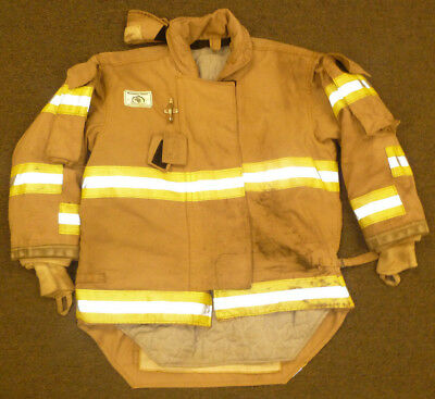 46x29 Firefighter Jacket Coat Bunker Turn Out Gear Brown Morning Pride J568