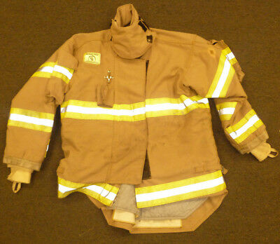 48x31 Firefighter Jacket Coat Bunker Turn Out Gear Brown Morning Pride J582