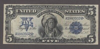 """1899 $5.00 Silver Certificate, """"Chief,"""" Fr 271, VF+, NICE!!"""