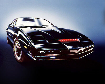 Knight Rider Kit Car Displayed With Red Lights On Glowing Background 8x10 Photo
