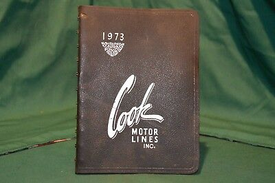 Vintage 1973 Cook Motor Lines Inc. Desk Diary And Almanac