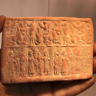 Wonderful  Old Terracotta Tablet With Excellent unique Art