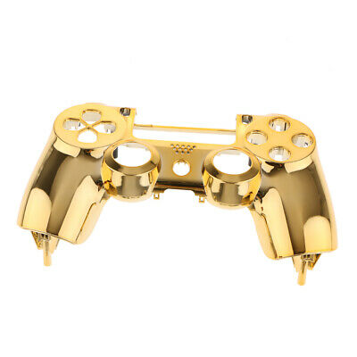 Plating Front Housing Shell Case Cover for PS4 DualShock 4 Controller Gold
