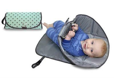 Changing Clean Hands Pad Portable Diaper Baby Mat Folding Cover 3in1 Bag Clutch