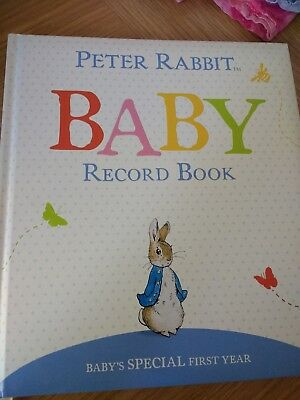 New baby record book- Peter Rabbit