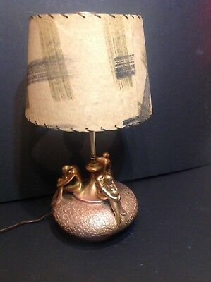 Vintage 1920-1950 olive kooken table lamp,Art Deco,mid mondern