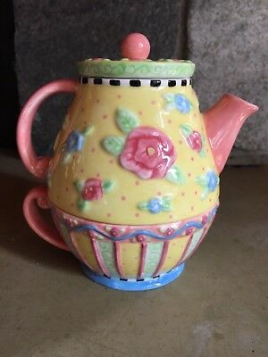 Collectible MARY ENGELBREIT Teapot & Tea Cup, Tea-For-One