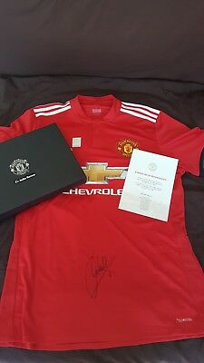 5120e33c3 Manchester united Shirt 2017 18 Signed By ANDER HERRERA with COA and Box