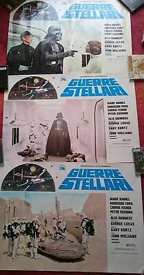 star wars Vintage 1977 italy italian poster poster set of three