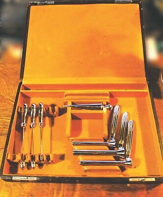 "Antique ""Kelly"" Anal Speculum Medical Kit"