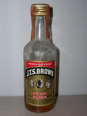 MINIATURA COLLECTION WHISKY J.T.S.BROWN BOURBON KENTUCKY  86 proof