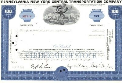 100 x Pennsylvania New York Central Transportation Company, 1960ies