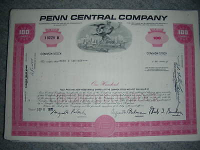 100 x Penn Central Company, various colors (3-4), 1970ies