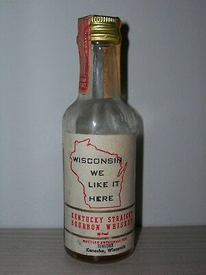 MINIATURA COLLECTION WHISKY WISCONSIN WE LIKE IT HARE BOURBON KENTUCKY  86 proof