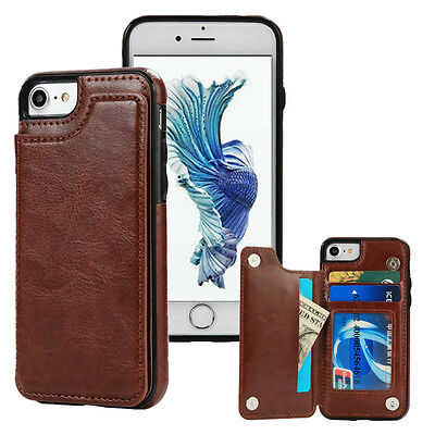 Leather Card Slot Holder Stand Wallet Case For iPhone Xs Max XR X 8 7 6s 6 Plus