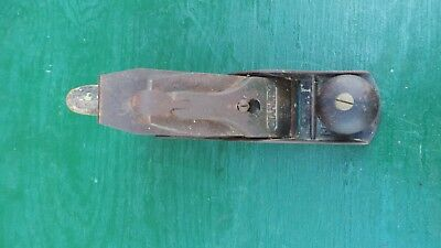Vintage Stanley Bailey No 4 Plane US Pat April 19 1910 Corrugated Bottom