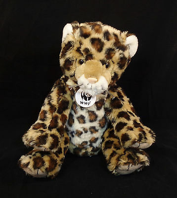 "14"" Build-A-Bear Workshop Plush WWF Spotted Leopard 2012- Stuffed Animal 3+"
