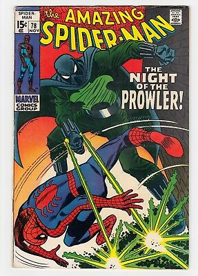 AMAZING SPIDER-MAN #78 Marvel 1969 First App. PROWLER VG/F 5.0