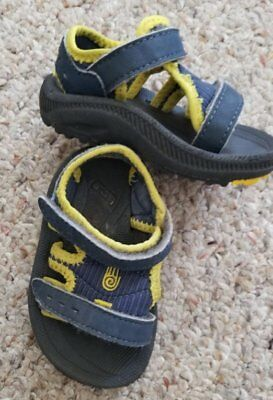 487786ef9290e7 TEVA Waterproof Sandals Psyclone2 Navy Blue Open Toe Sandals Infants Size 2 -3