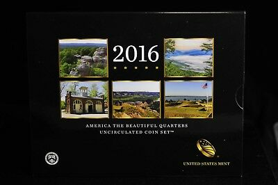 2016 U.S. Mint America the Beautiful Quarters Uncirculated Coin Set OGP [07DUD]