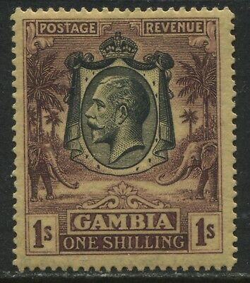 Gambia  KGV 1929 1/ dark violet on yellow buff mint o.g.
