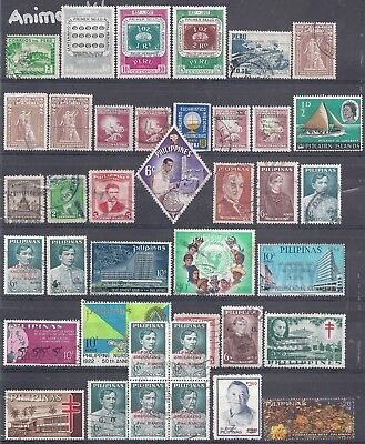 Selection of Used Stamps from Peru-Philippines-Portugal-Qatar 87 Stamps in Total