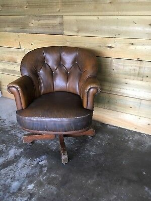 19th century Office Antique Swivel Chair