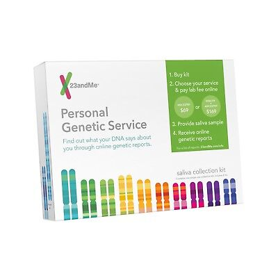 23 and Me Personal Genetic Ancestry DNA Saliva Testing Service Kit Test Heritage