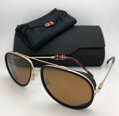 3560cd2c8 NEW AUTHENTIC CARRERA 166/S J5GK1 Gold/Black with Brown/Gold Mirror ...