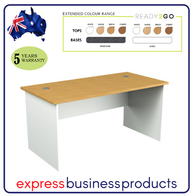 Ready 2 Go Office Desk No Cable Hole (DKS) - Assorted Dimensions and Colours