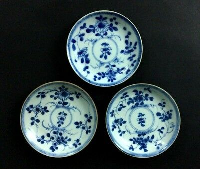 18 C.Chinese YongZheng Blue & White Porcelain Plates With Sotheby's Auction Tags