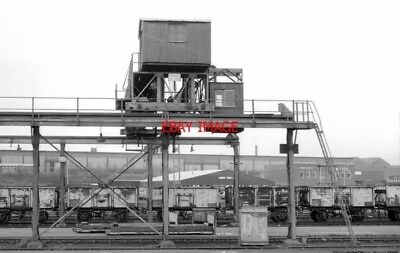 Photo  Tasker Street Sidings Walsall 1980 The Gantry Crane And A Rake Of 16 Ton