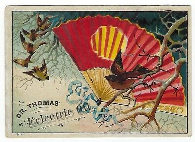 Dr. Thomas Eclectric Oil late 1800's medicine trade card #A - Pawling, NY