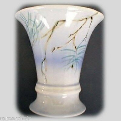 Royal Dux vase hand painted pine tree branches