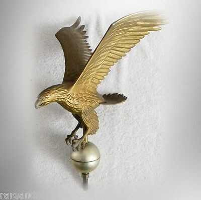 Eagle vintage metal weathervane  with spread wings - gold color