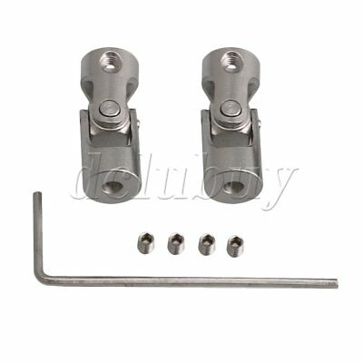 2x OD 9MM ID 3-3MM Steel Rotatable Universal Joint Connector Coupler