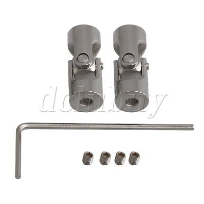 2x ID 3.17MM Steel Rotatable Universal Joint Connector Coupler 23MM Long