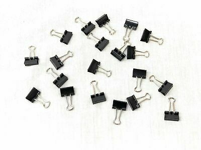 Small Binder Clips, Steel Wire Office Paper Clips - Multi Order Deal!! 20 Pieces